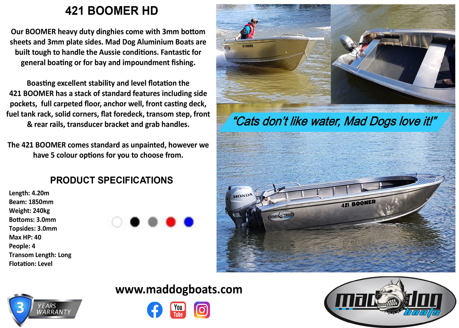 boomer mad dog boats